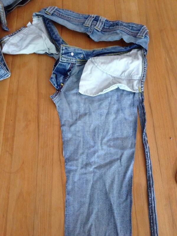 Teppich aus alten Jeans  Die Spinnwebe